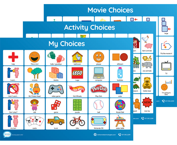 Low Tech Communication Board - Choices