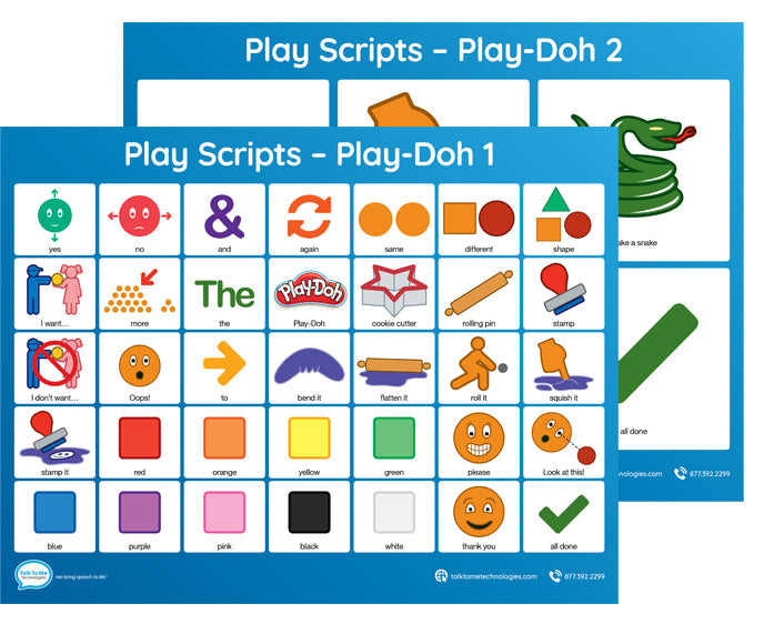 AAC Play Scripts - Play-Doh