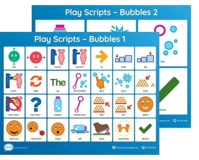 AAC Play Scripts - Bubbles activity