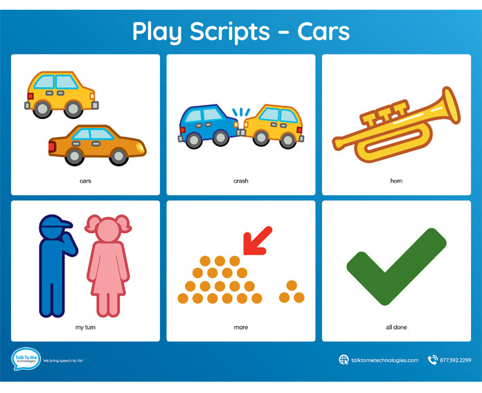 AAC Play Scripts - Cars