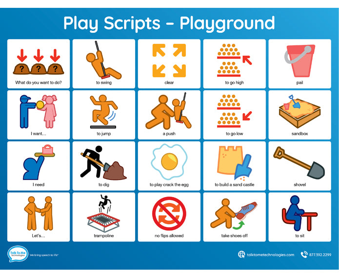 Low Tech Communication Board - Playground