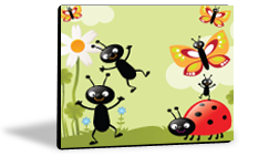 Speech Device Color Choice - Happy Bugs and Butterflies