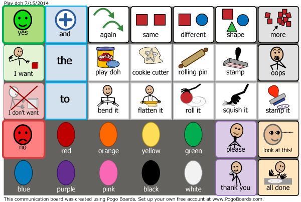 Activity And Choice Boards For Autism Talk To Me