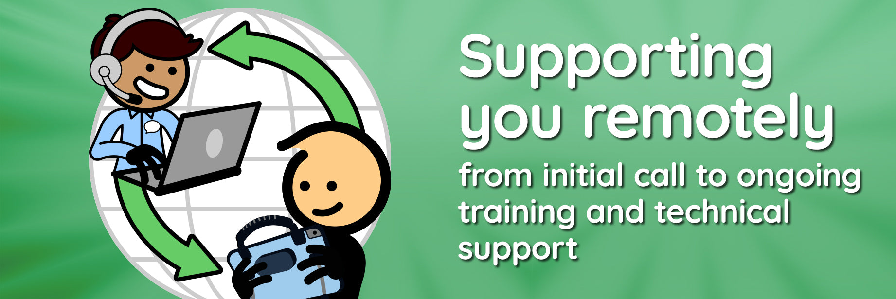 Supporting you remotely from initial call to ongoing training and technical support