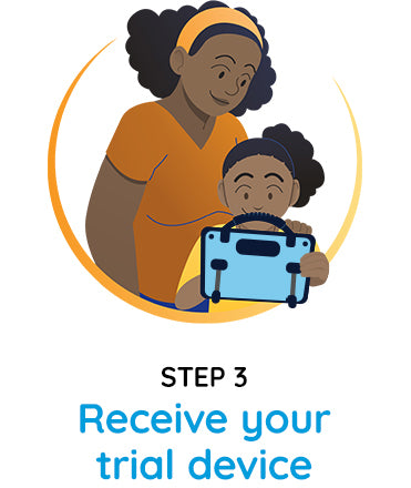 Step 3 - receive your trial device