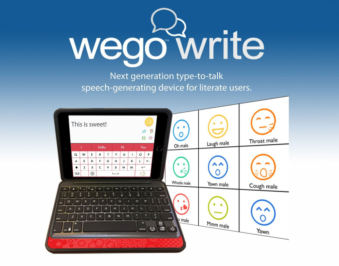 wegowrite - all new text-to-speech AAC