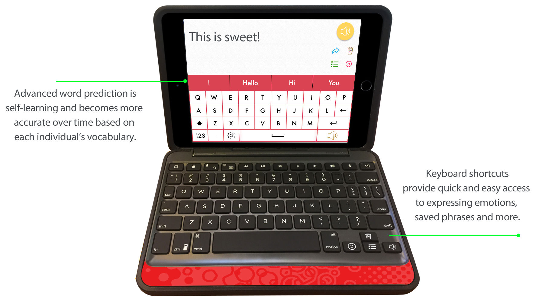 wegowrite - text to speech aac