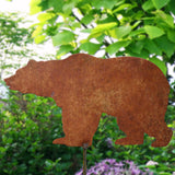 Grizzly bear garden stake