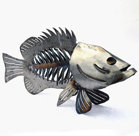 Bass sculpture 18""