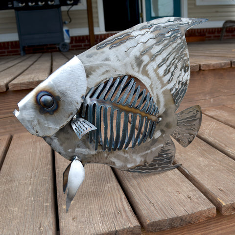 Angelfish sculpture 22""