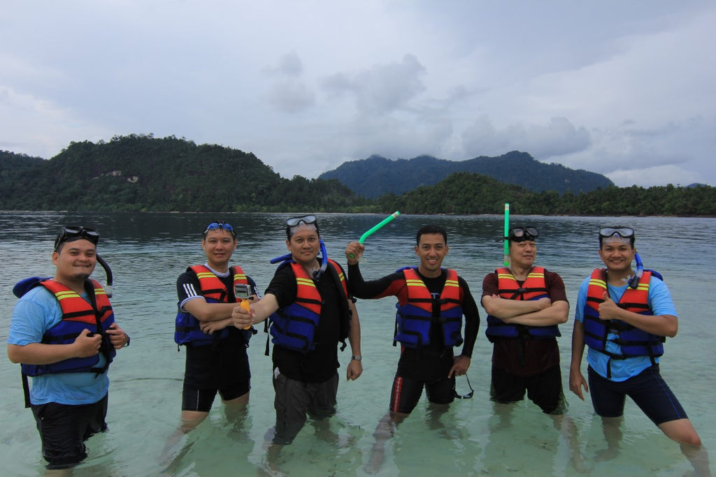 snorkling at pasumpahan