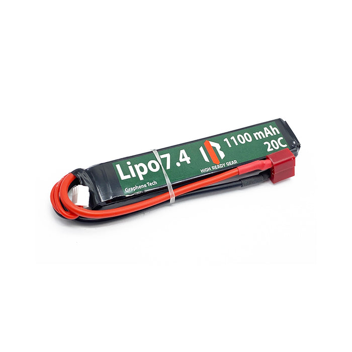 HRG Graphene 7.4V Lipo Battery (20C, 1100mAh, Dean)