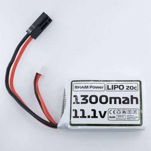 RHAM Power 11.1v Lipo 1300mAh PEQ