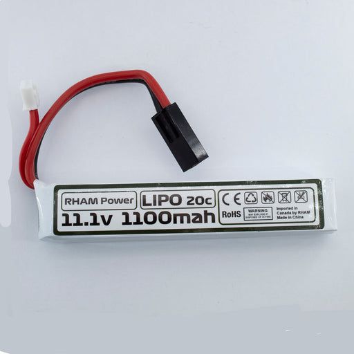 RHAM Power 11.1v Lipo 1100mAh Stick