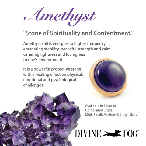 Divine Dog Gemstones for Dog Collars, Leashes and Companion Bracelets - Amethyst