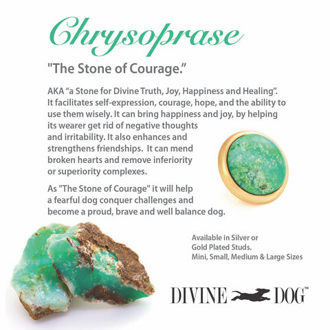 Divine Dog Gemstones for Dog Collars, Leashes and Companion Bracelets - Chrysoprase