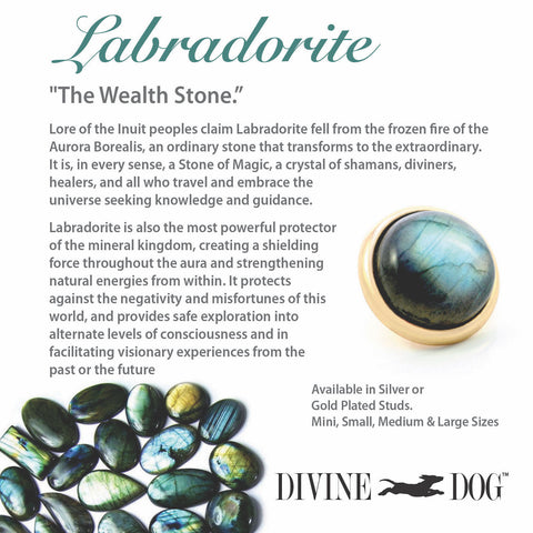 Divine Dog Gemstones for Dog Collars, Leashes and Companion Bracelets - Labradorite