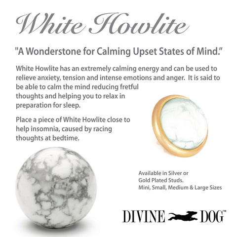 Divine Dog Gemstones for Dog Collars, Leashes and Companion Bracelets - White Howlite