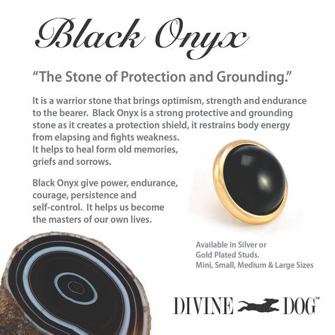 Divine Dog Gemstones for Dog Collars, Leashes and Companion Bracelets - Black Onyx