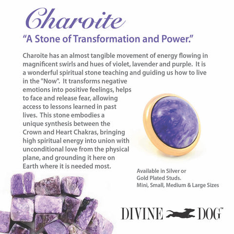 Divine Dog Gemstones for Dog Collars, Leashes and Companion Bracelets - Charoite