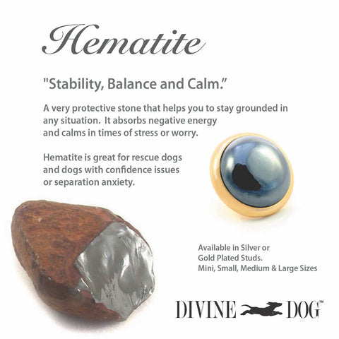Divine Dog Gemstones for Dog Collars, Leashes and Companion Bracelets - Hematite