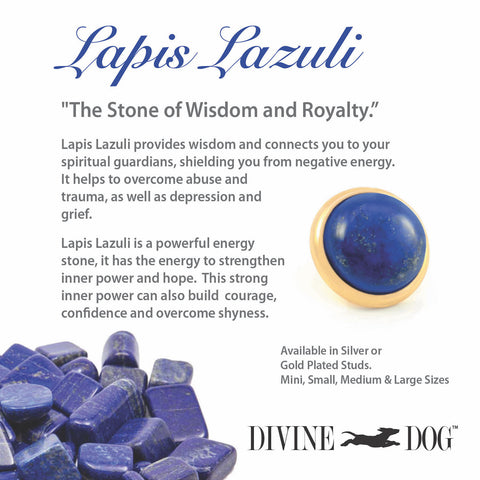 Divine Dog Gemstone Studs for Dog Collars, Leashes and Companion Bracelets - Lapis Lazuli