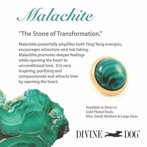 Divine Dog Gemstones for Dog Collars, Leashes and Companion Bracelets - Malachite