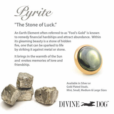 Divine Dog Gemstones for Dog Collars, Leashes and Companion Bracelets - Pyrite