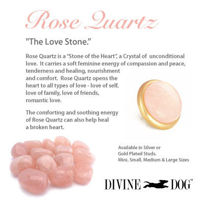 Divine Dog Gemstones for Dog Collars, Leashes and Companion Bracelets - Rose Quartz