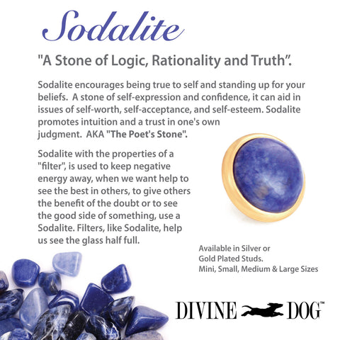 Divine Dog Gemstones for Dog Collars, Leashes and Companion Bracelets - Sodalite