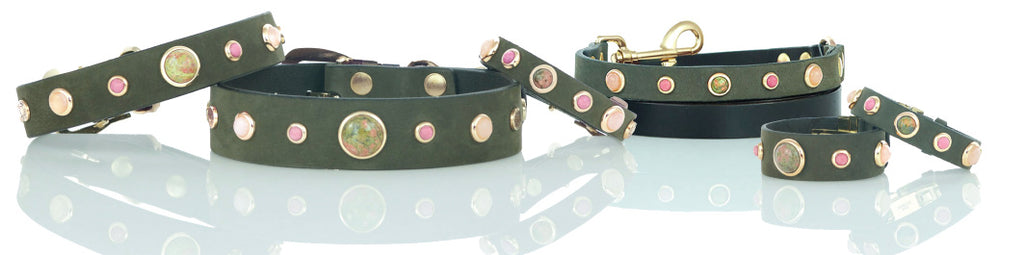 Divine Dog Love Collection of Dog Collars with Gemstones