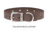 Divine Dog Collar, Nubuck Ashford Grey-Silver 5/8 inch Wide (17mm), Fits Neck 12 to 14 Inches