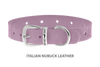 Divine Dog Collar, Nubuck Violet-Silver 5/8 inch Wide (17mm), Fits Neck 12 to 14 Inches