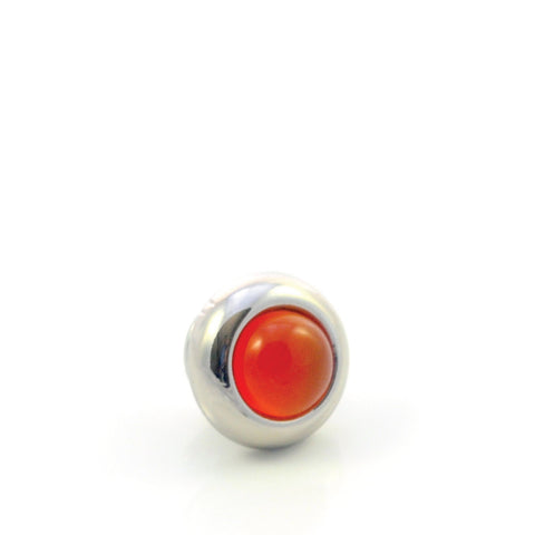 Dog Collar Gemstone Stud with Screw Back - Carnelian