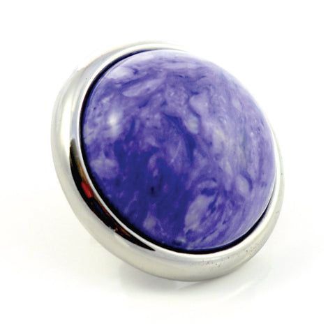 Dog Collar Gemstone Stud for Divine Dog Collars - Charoite