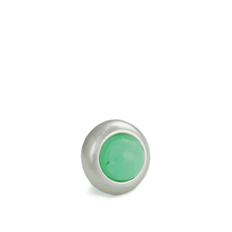 Divine Dog Collar Gemstone Stud - Chrysoprase