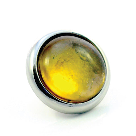Dog Collar Gemstone Stud for Divine Dog Collars - Citrine
