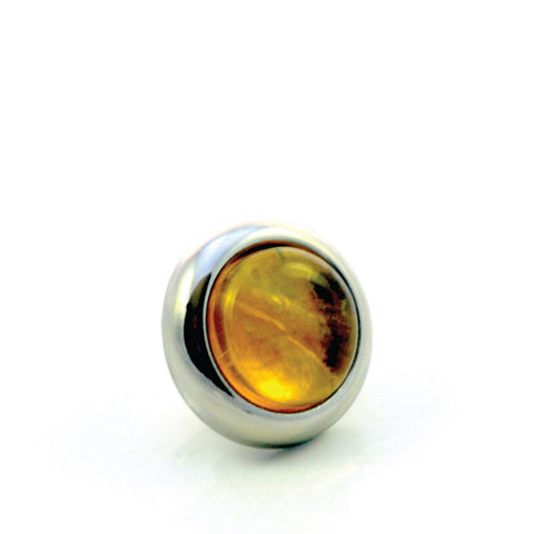 Divine Dog Collar Gemstone Stud - Citrine
