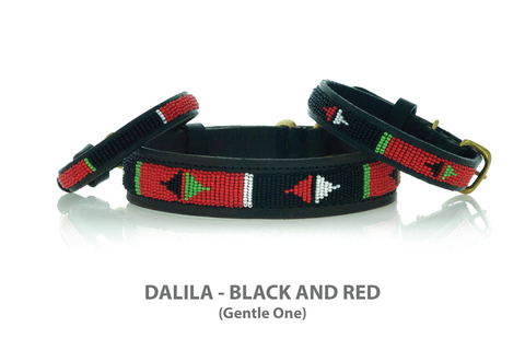 African Dog Collar Beaded by Maasai - Kenya Collars