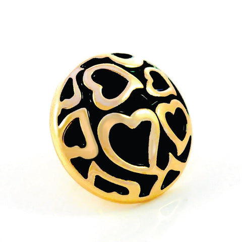 ENDLESS LOVE, Medium (19mm) Gold-Plated Stud