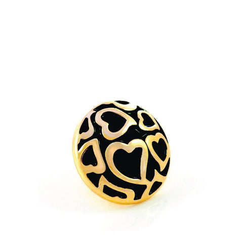 ENDLESS LOVE, Small (13mm) Gold-Plated Stud