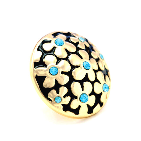 FORGET-ME-NOT BLUE, Medium (19mm) Gold-Plated Stud