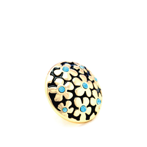 FORGET-ME-NOT BLUE, Small (13mm) Gold-Plated Stud