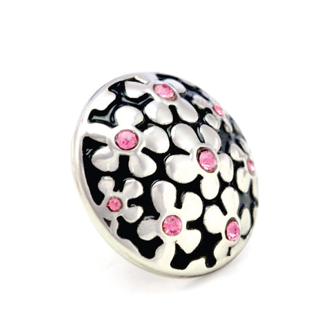 FORGET-ME-NOT PINK, Medium (19mm) Silver-Plated Stud