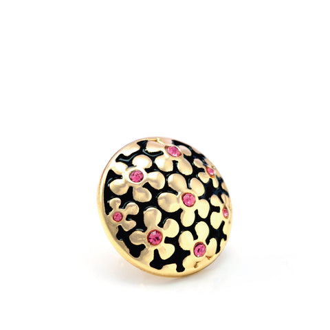 FORGET-ME-NOT PINK, Small (13mm) Gold-Plated Stud