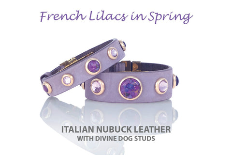 Luxury Divine Dog Owner Bracelet with Healing Gemstones and Crystals inspired by French Lilacs in Spring