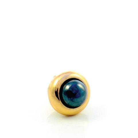 HEMATITE Gemstone, Stability, Balance, Confidence, Mini Gold-Plated Stud