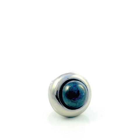 HEMATITE Gemstone, Stability, Balance, Confidence, Mini Silver-Plated Stud