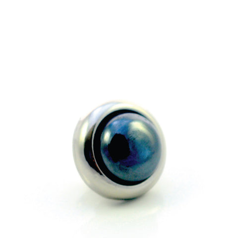HEMATITE Gemstone, Stability, Balance, Confidence, Small Silver-Plated Stud