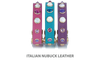 Leather Dog Collars Pink, Purple, Turquoise with Crystals and Gemstone Studs